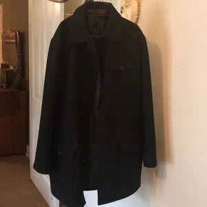 Black large Pea coat